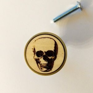 handmade Other - Human Skull Draw Pull Knobs Set Of 3 NWT
